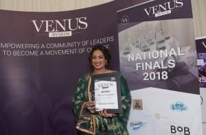 sarah winner venus award 2018